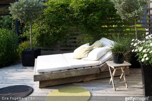comment am nager un coin cosy dans le jardin ou sur une terrasse le meuble du jardin. Black Bedroom Furniture Sets. Home Design Ideas